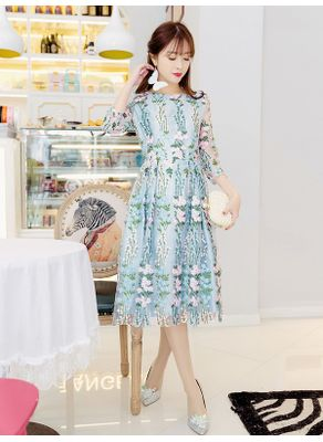 Beautiful Embroidery Dress - KP002111