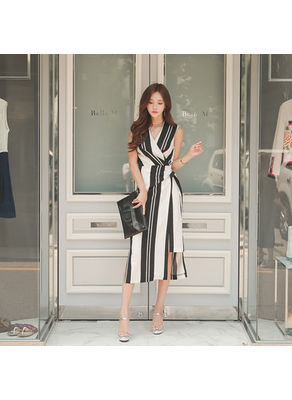 Stripe Maxi Dress - KP002128