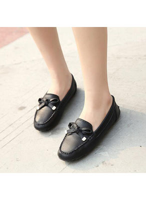 Bow Knot Design Loafers - KP002216