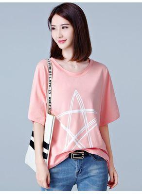 Star Print T-shirt - KP002256