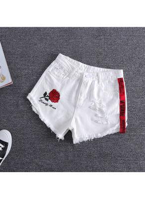 Embroidery Denim Shorts - KP002302
