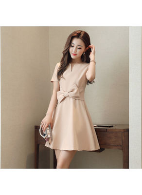 Bow Knot Design Dress - KP002314