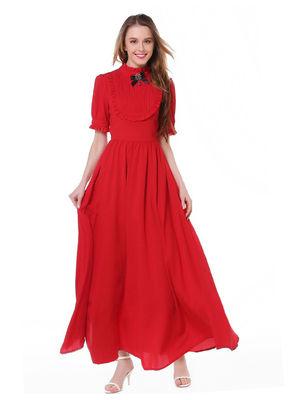 Vintage Style Maxi Dress - KP002321