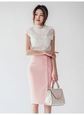 Gauze Blouse + Skirt - KP002360