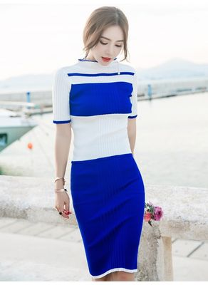 Vibrant Knit Top + Skirt - KP002362