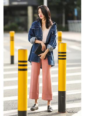 Big Pocket Denim Long Coat - KP002402