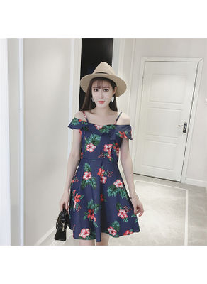 Cold Shoulder Floral Dress - KP002426