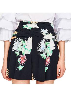 Printed Floral Shorts - KP002448