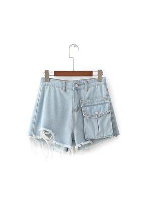 Pocket Design Denim Short - KP002503