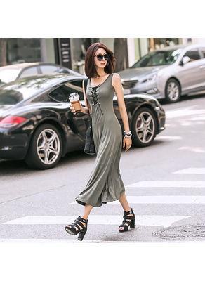 Lace up Maxi Dress - KP002519