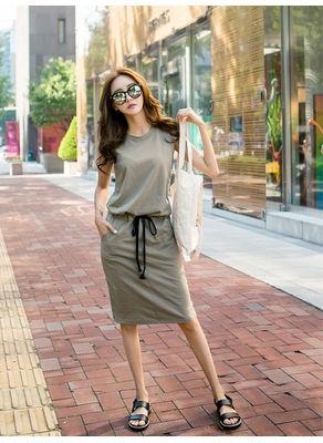 Korean Style Mid Waist Dress - KP002522