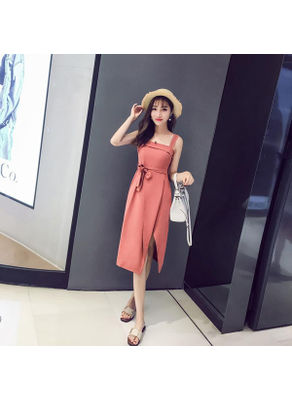 Solid Color Sleeveless Maxi Dress - KP002523