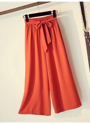 Bow Knot Design Cotton Pants - KP002524