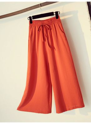 Drawstring Design Wide Leg Pants - KP002525