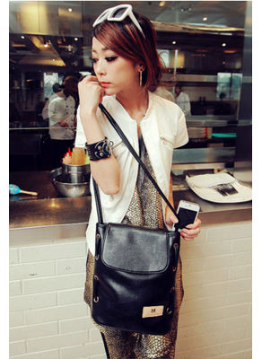 Cute Bucket Bag -Black- KP001573