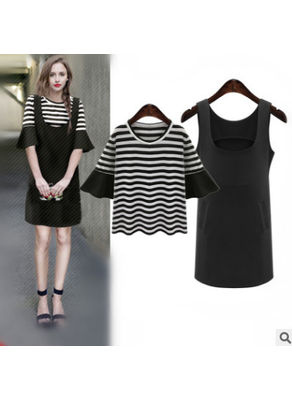Plus Size Two Piece Dress - KP002169
