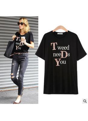 Sequin Loose T-shirt - KP002253
