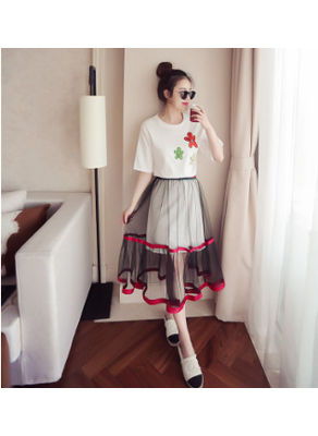 T-shirt + Yarn Skirt - KP002248