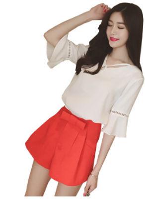 Solid Color Chiffon Shorts - KP002295