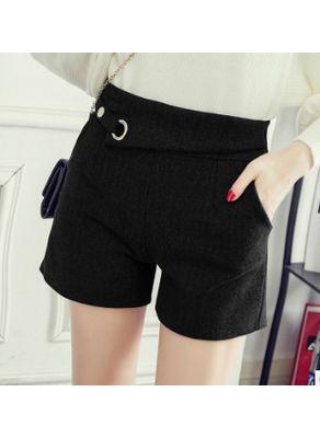 Solid woolen Shorts - KP002299