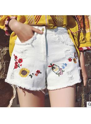 Beautiful Embroidery Shorts - KP002307