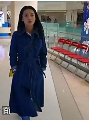 Celebrity Style Denim Coat - KP002407
