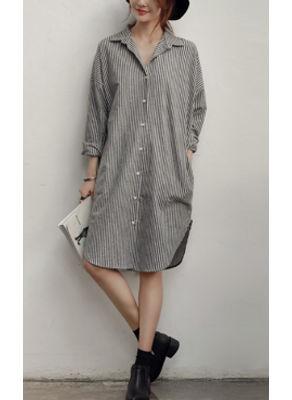 Back Pocket Design Long Shirt - KP002423