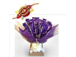 Chocolate Rakhi Wishes