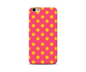 Yellow Dots-pink Background Phone Case