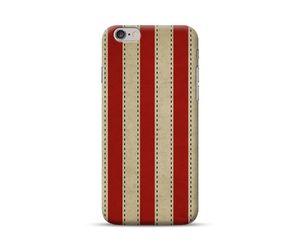 Vintage Vertical Red Stripes Phone Case