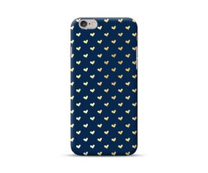 Hearts yellow and blue Phone Case