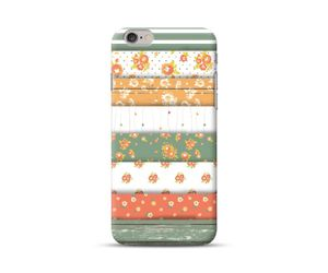 Green White Striped Floral Phone Case