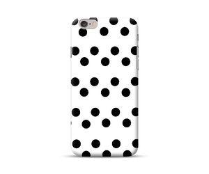 Black Big Polka Phone Case