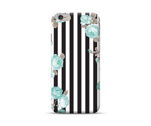 Teal  Floral Stripes Phone Case