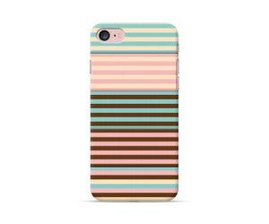Mint-Brown Stripes Phone case
