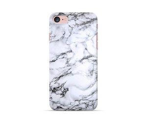 White Marble Black Hue Phone Case