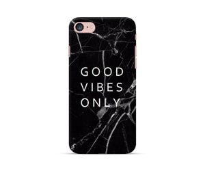 Good Vibes Only- Black Marble Phone Case