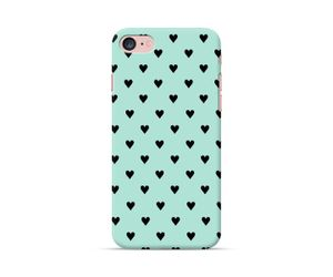 Mint Hearts Phone Case