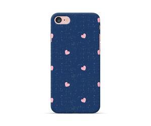 Blue Denim Hearts  Phone Case