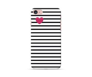 Pink Heart on Stripes Phone Case