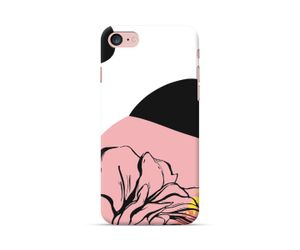 Unusual Bloom Collection - Peachy black phone case