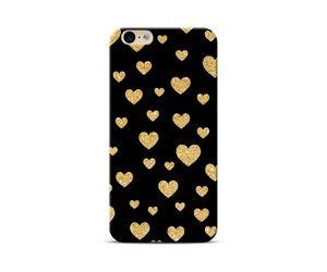 Hearts Black & Gold Phone Case