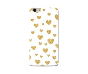 Hearts White & Gold Phone Case
