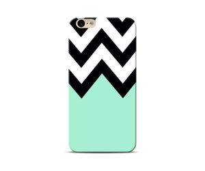 Black  and Mint Zigzag Phone Case