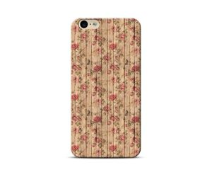 Brown Wooden Floral Phone Case