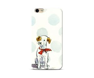Dog with a bow Phone Case