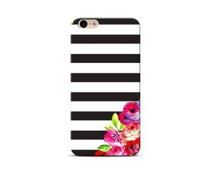 floral bold stripes Phone Case