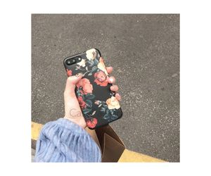 New Black red roses phone case