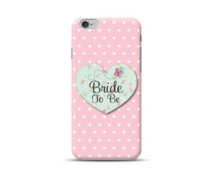 Bride To Be-Polka Heart Phone Case