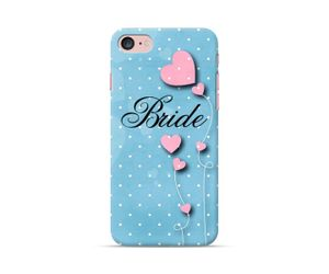 Bride to be: Blue Heart Phone Case